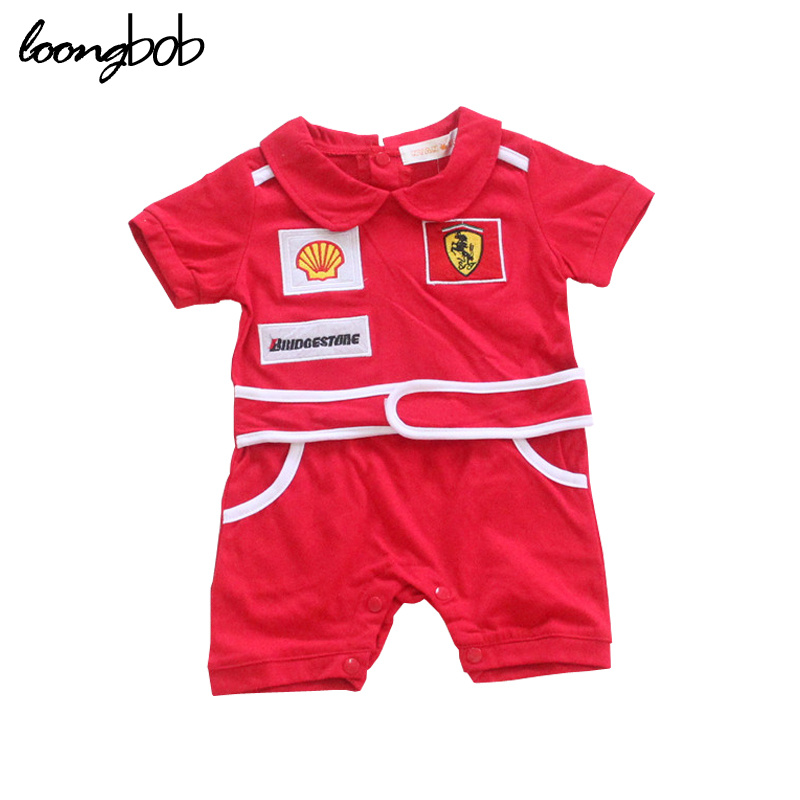 New Baby boys girls sports short sleeve rompers newborn jumpsuit children clothes toddler Summer tracksuit costumes 780C 2017 lovely newborn baby rompers infant bebes boys girls short sleeve printed baby clothes hooded jumpsuit costume outfit 0 18m