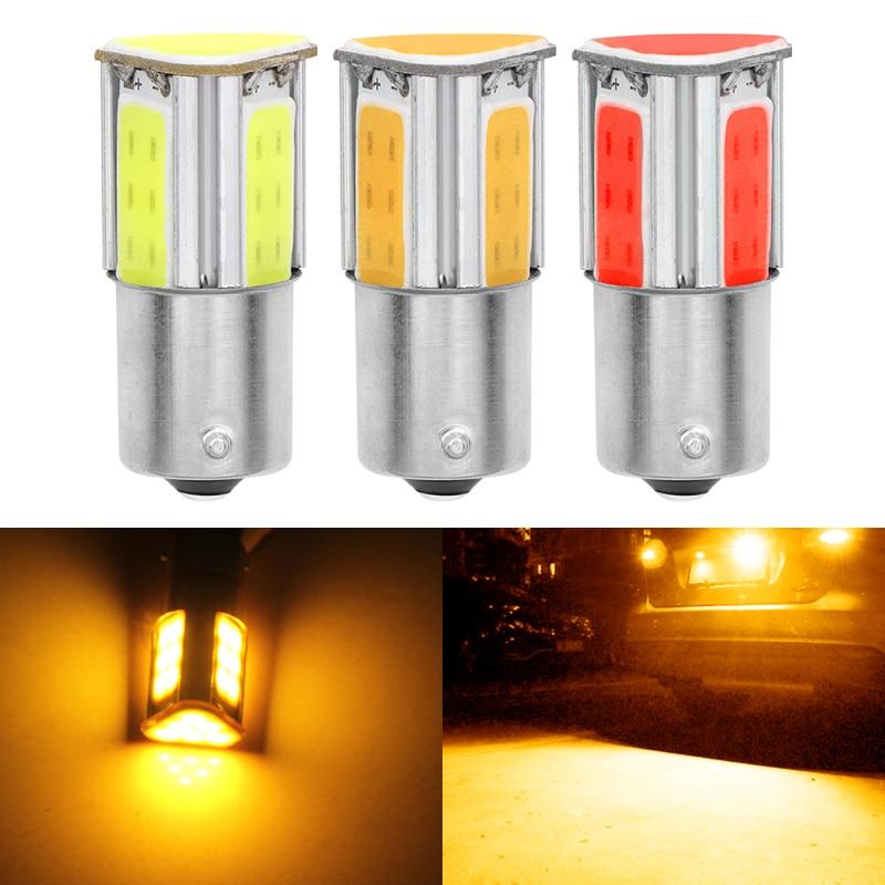 Led Bulbs & Tubes Light Bulbs 1pcs Universal Cob Led 1156py Py21w Bau15s Bulbs Stop Lamp Turn Signal Amber Yellow Fog Driving Auto Brake Backup Light Lamps