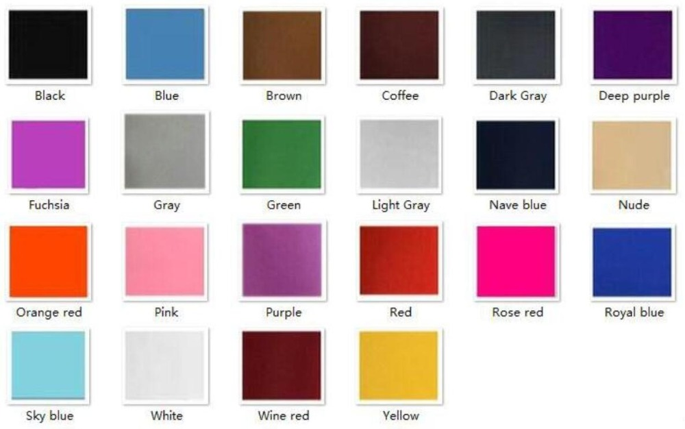 OVIGILY COLOR CHART