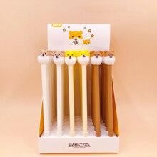 36Pcs/lot Cute Animal Hamster Gel Pen 0.5mm Black Rollerball Writing Student Stationery School Office Supply Gift