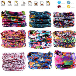 Flower Series Hiking Scarf Sport Headwear Women Reversible Bandanas Turban Hand Band Magic Scarves Outdoor Cycling Headband
