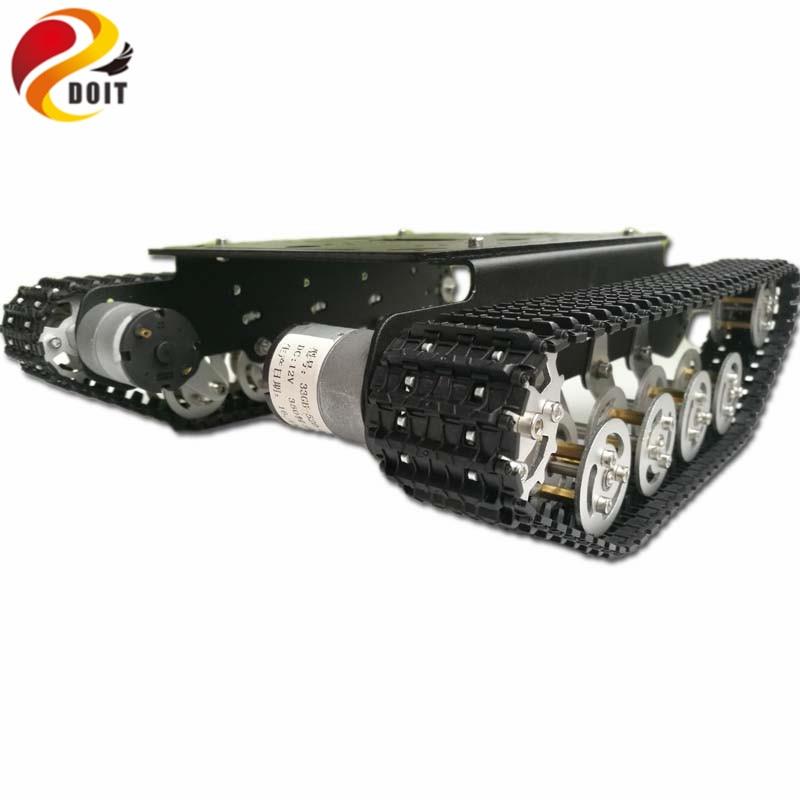 DOIT Shock Absorption rc Robot car chassis kit Crawler Tank Car Chassis with Suspension Track Caterpillar Crawler eduactional ki night crawler
