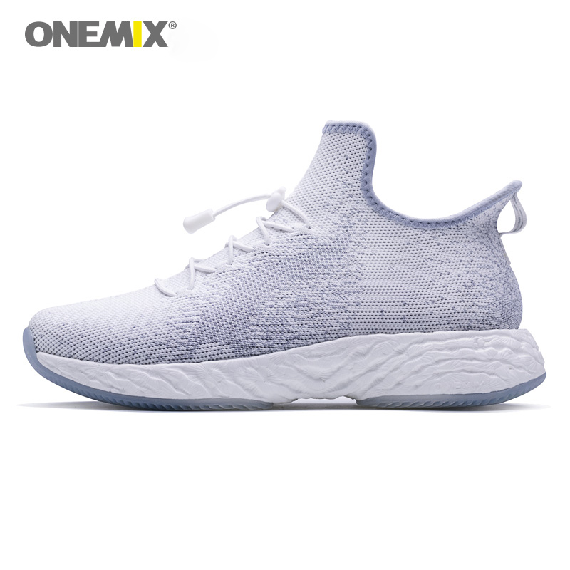 ONEMIX Shoes Sneaker for Men Running Shoes Slip on Outdoor Jogging Energy Drops Soft outsole for