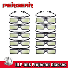 10pcs lot Pergear G15 font b DLP b font 3D Active Shutter Glasses for font b