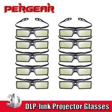 10pcs/lot Pergear G15 DLP 3D Active Shutter Glasses for DLP-LINK Porjector for  3D Projector Samsung Sony  Acer Dell Vivitek