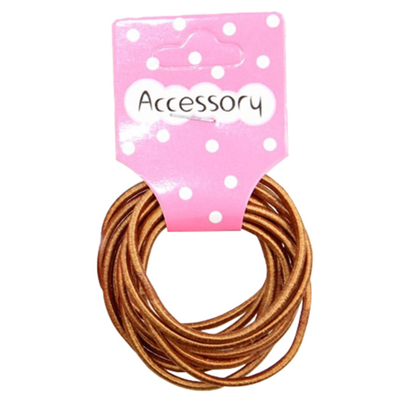 Best Sale New 100pcs Baby Girl Kids Tiny Hair Accessary Hair Bands Elastic Ties Brown