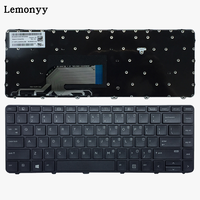 New US Laptop Keyboard For HP Probook 430 G3 430 G4 440 G3 440 G4 445 G3 640 G2 645 G2 English black Keyboard with frame-in Replacement Keyboards from Computer & Office on