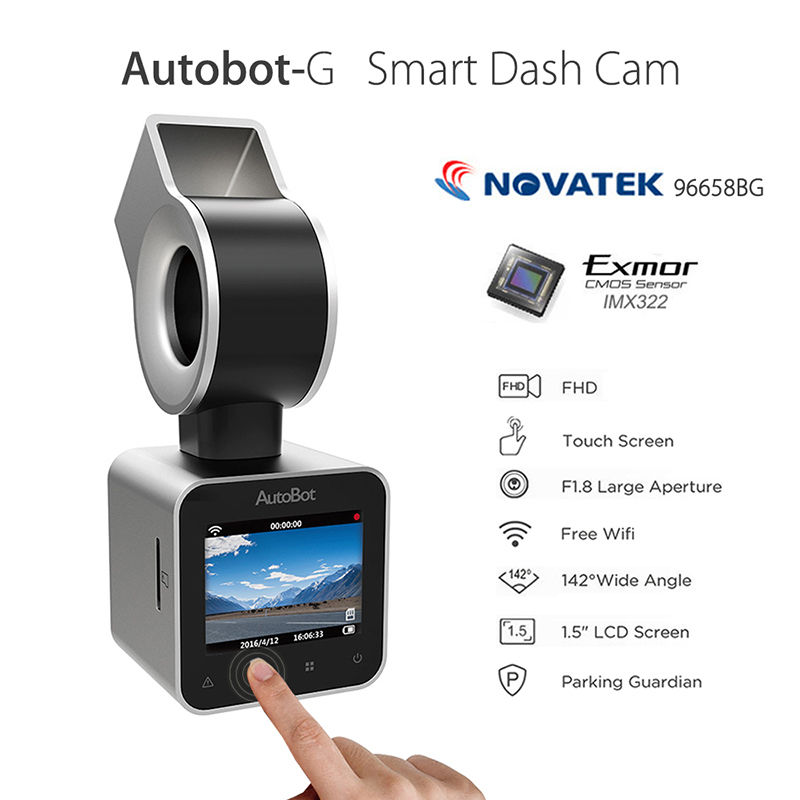Original Autobot-G Mini Wifi Car Dash Cam 1080P DVR DVRs Camera Video Recorder IMX323 Silver WDR FHD Support IOS And Android