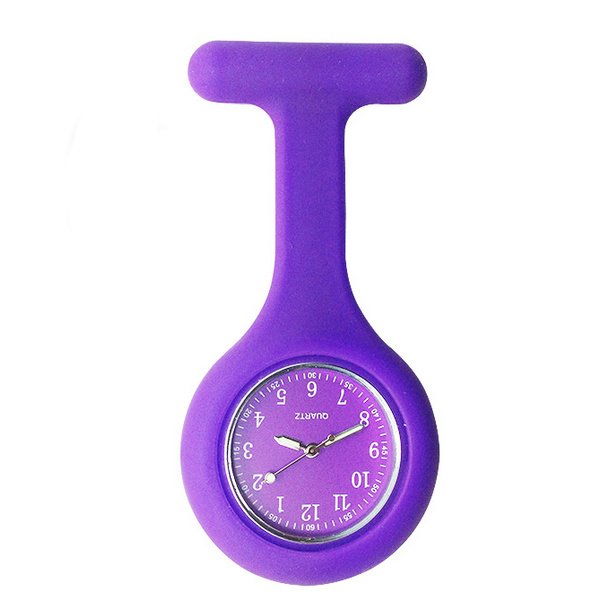 Free Shipping High Quality Nurse Watches Brand New Silicone Pocket Fob Brooch Nurses Watch Tunic Batteries Medical Quartz Watch in Pocket Fob Watches from Watches