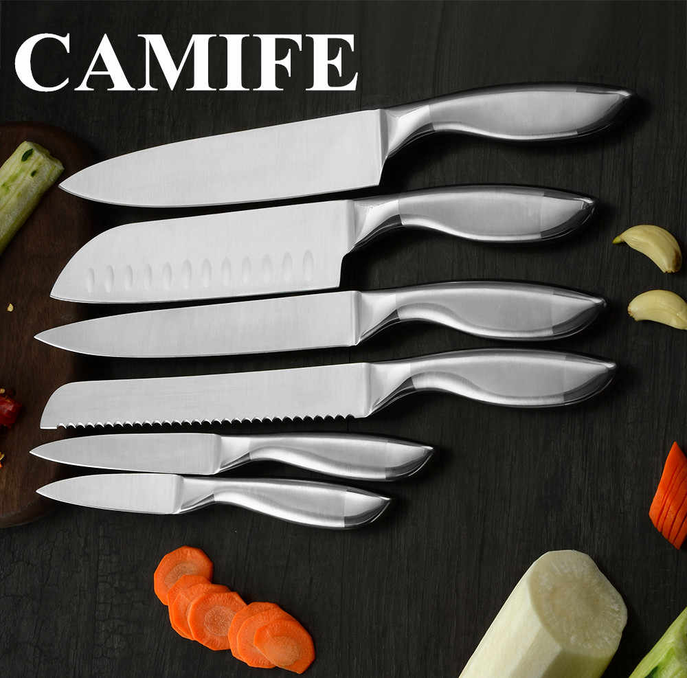 Japanese Kitchen Knife Set Fruit Paring Utility Santoku Chef Slicing Bread Stainless Steel Cooking Knives Set Accessories Tools