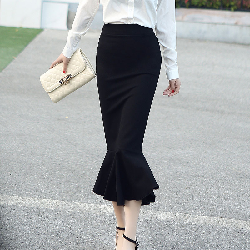 2018 Spring Summer OL Formal Women Long Mermaid Skirt Ladies Professional Office faldas formales