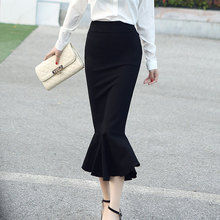 2016 Spring Summer OL Formal Women Long Mermaid Skirt Ladies Professional Office faldas formales