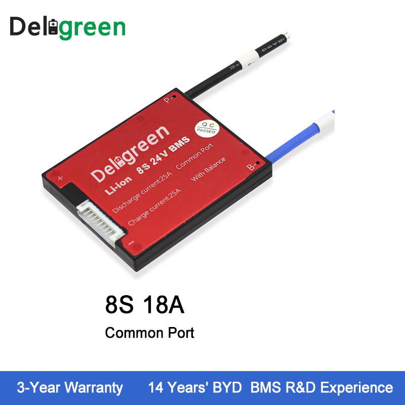 Deligreen 8S 18A 24V PCM/PCB/BMS for lithium battery pack LiFePO4 Battery Pack Electric Tools цена