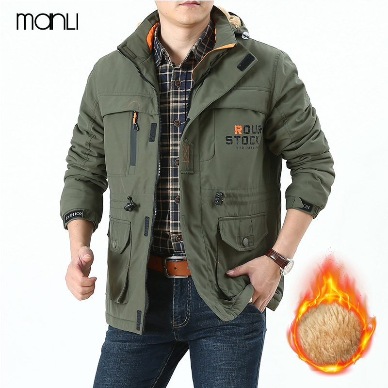 Military Tactical Jacket Men 2018 New Mens Softshell Hiking Jackets Outdoor Male Climbing Hooded Fleece Winter Warm Fleece Coat