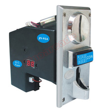 JY-924 CPU Multi Coins Selector coin Acceptor support 4 type of coins for Vending machine Zinc Alloy front plate