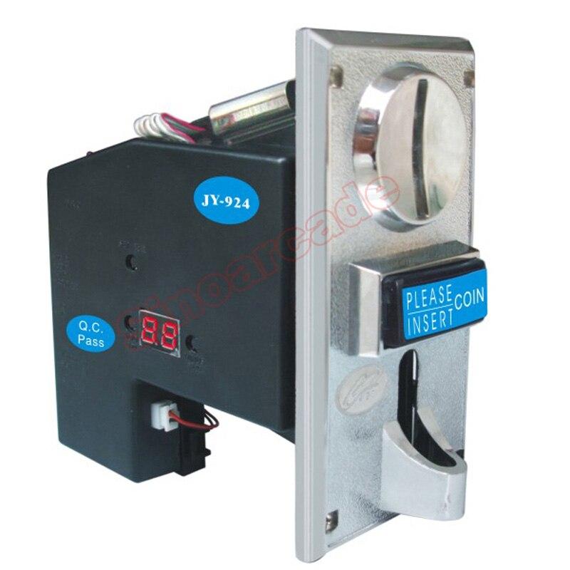 JY-924 CPU Multi moedeiro Selector de Moedas suporte tipo 4 de moedas para a máquina De Vending Da Liga do Zinco da placa dianteira