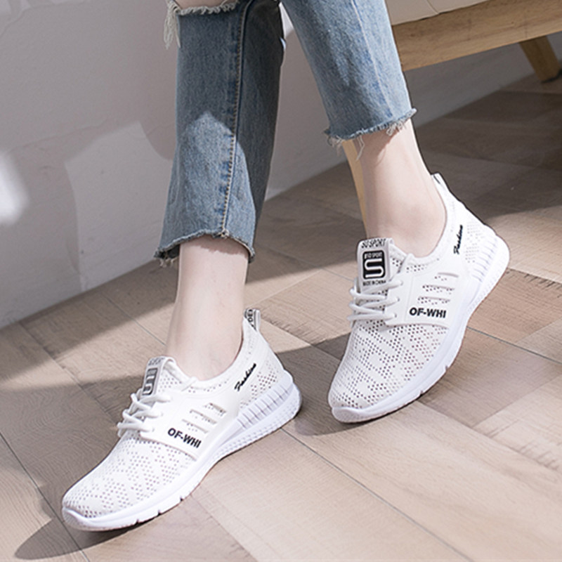 Keloch 2018 Summer Mesh Shoes Women Fashion Soft Breathable Ladies Casual Shoes Lace-Up Sneakers Women Flats Female