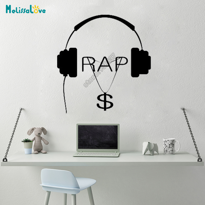Music Hip Hop Rap Songs Money Guaranteed Quality Decal Bedroom Decal Living Room Decor Removable Vinyl Wall Stickers B656 image