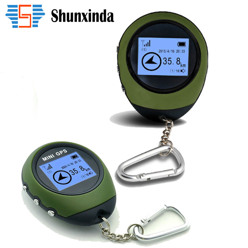Mini GPS Trackers Receiver Handheld Location Finder font b USB b font Rechargeable with Electronic Compass