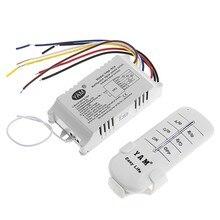 Interruptor de controle remoto da lâmpada, ligamento/desligamento sem fio, receptor e transmissor, 220v 1/2/3/4 saídas