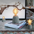 Post Modern Creative Cement Desk Lamp Personality Simple Table Lamp For Study Room Cafe Bar Home Lightings Luminaria De Mesa