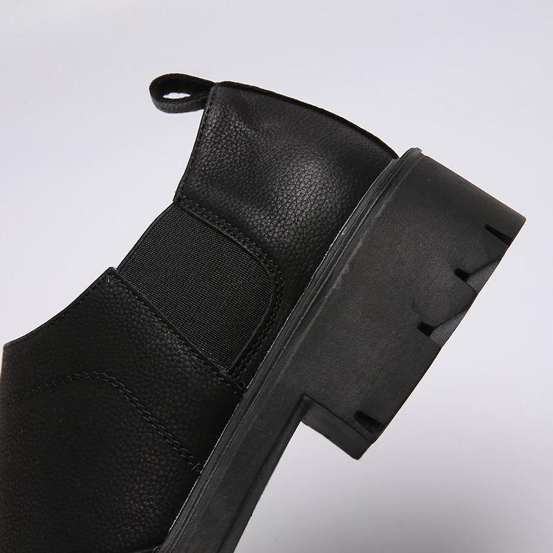 Preto Forma Lazer Vestido Projeto Do Plataforma Errfc Concisa Homens Carreira Dedo De Da Sapatos Sapatas Redondo Negócios Pé Em Homem Deslizamento Calçado Escritório Dos Oq0dwOExY