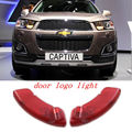 Car styling LED car logo light door Welcome light Ghost Shadow Projector Light For Chevrolet Captiva 2011-2014