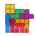 Ac110v-220v 7 diferentes-colorido único empilhável tetris diy construtível estilo retro jogo luz da noite levou mesa de decoração para casa