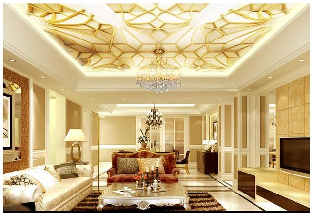 3d photo wallpaper custom 3d celing wallpaper murals classical luxury solid ceiling murals 3d living room