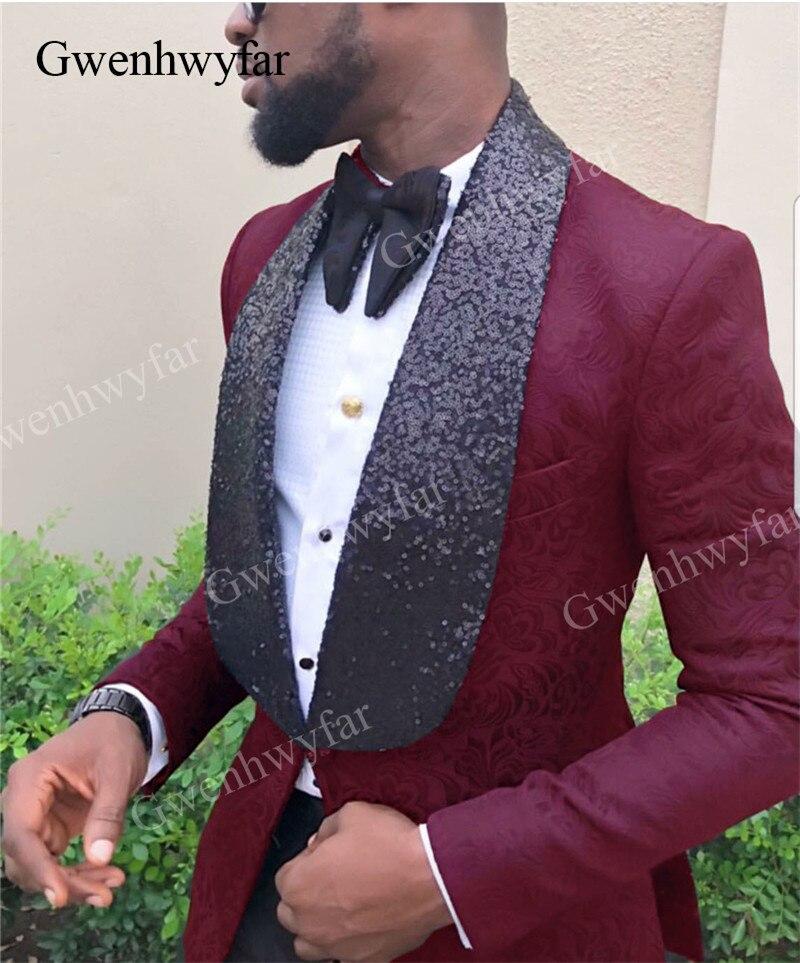 Hombres Esmoquin Gwenhwyfar Blue Novio navy Traje Diseño Piezas Para Botones  Formal Hombre Black burgundy 2019new Boda De purple Borgoña royal red  Chaqueta ... 7d19ca08caba