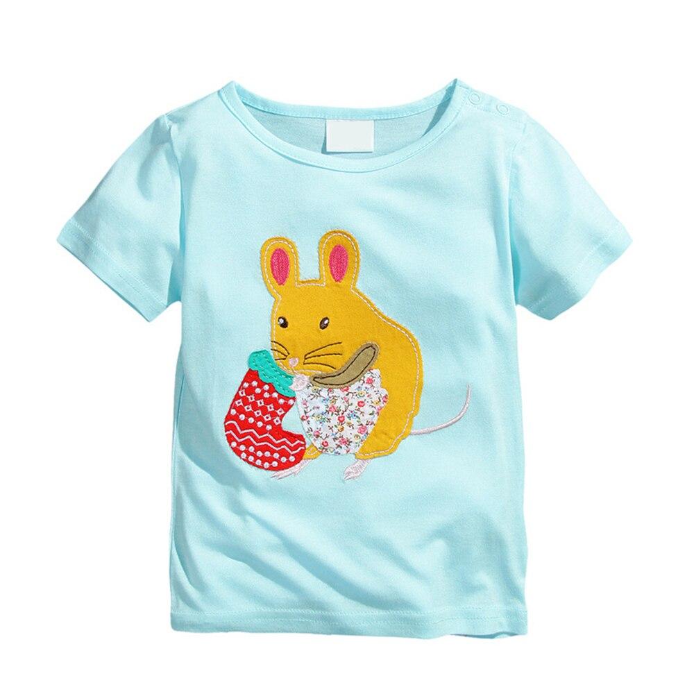 2018 Kids t shirt Summer children Girls Tops Tees Outwear Clothing Baby Round neck Short Sleeve girls Tshirts 2 3 4 6 7 8 Year