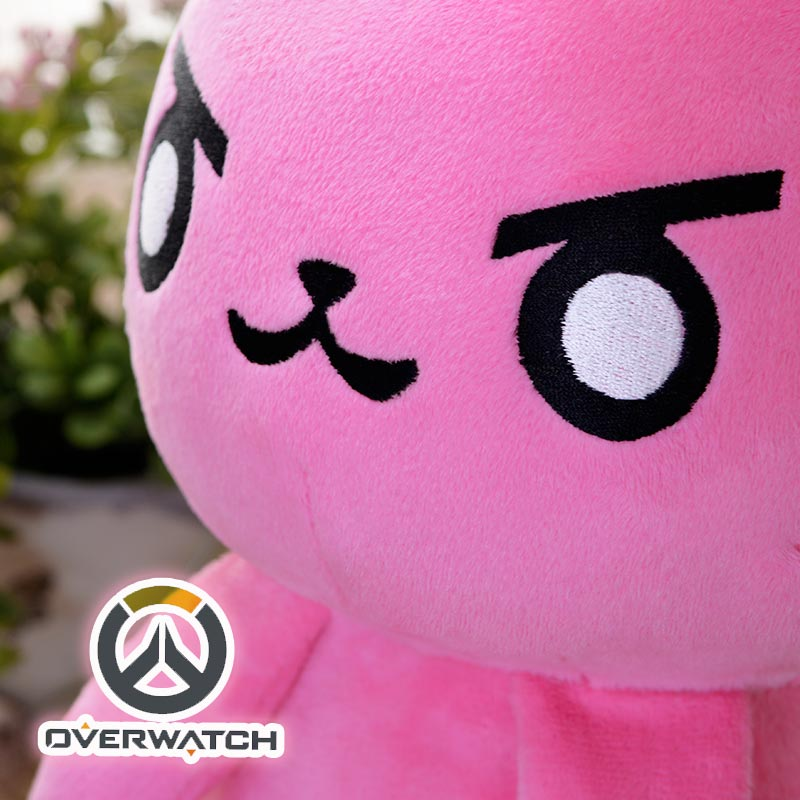 50CM Game Overwatches Pink Dva Rabbit Plush Toys The Last Bastion OW Ganymede Solf Plush Pillow Dolls Toys for Children Gifts 4