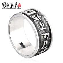 Beier 925 anillo de plata esterlina joyería 2015 hombre punky gótico om padme hun principal d0567