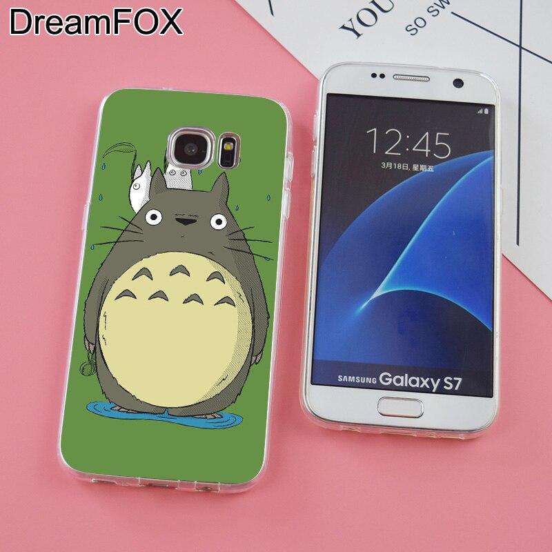 DREAMFOX K242 Totoro Soft TPU Silicone Case Cover For Samsung Galaxy Note S 3 4 5 6 7 8 9 Edge Plus Grand Prime