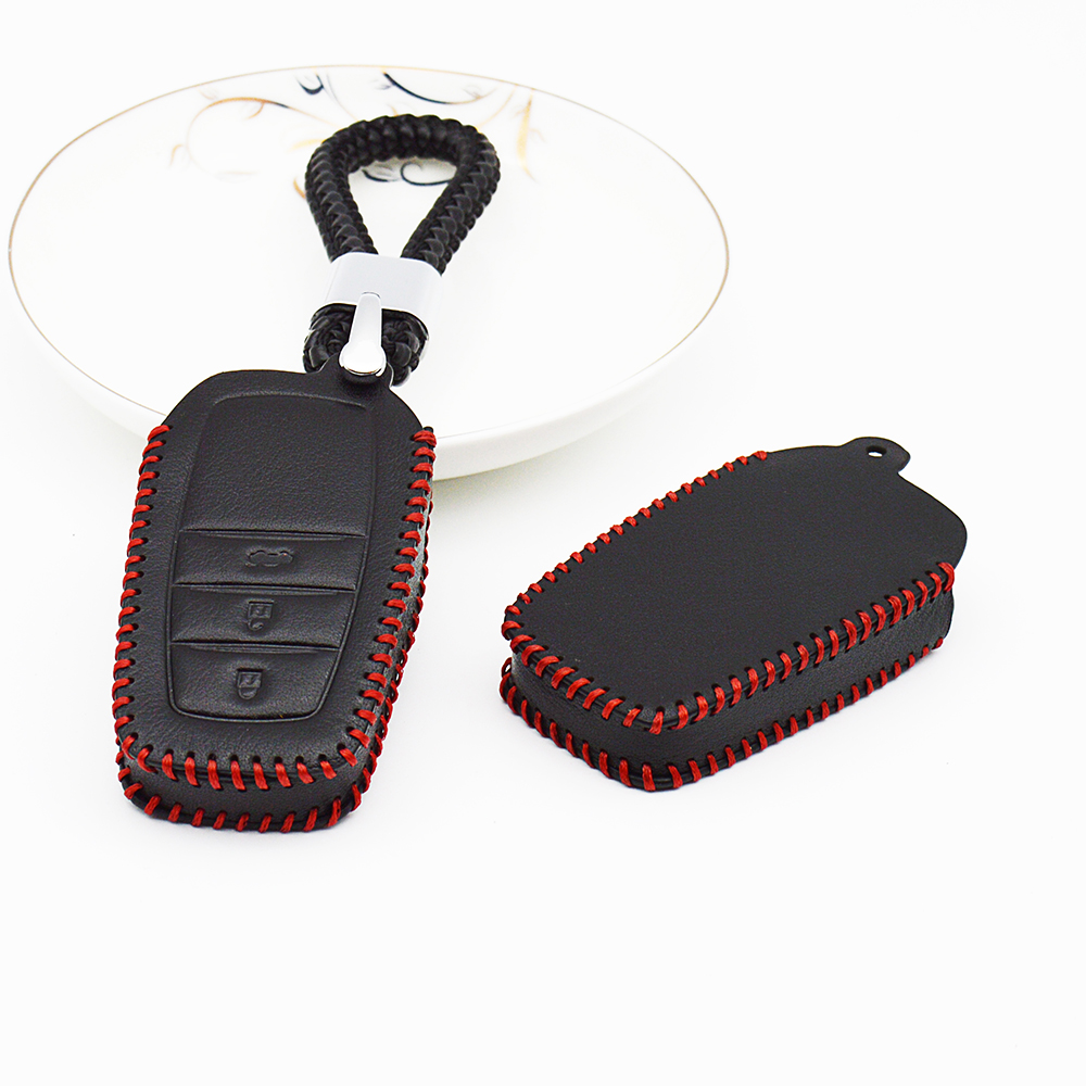 23 Button Key Case Cover Chain For Toyota Corolla Crown Camry RAV4 Avensis Auris CHR Accessories Real Leather Remote Key Holder