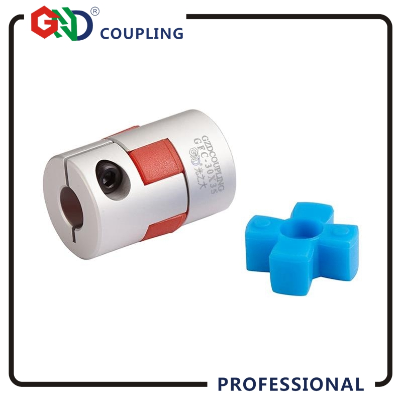 Free shipping GND coupling D20 L30 aluminum plum flower flexible couples clamp Jaw spider shaped shaft coupler for CNC machine