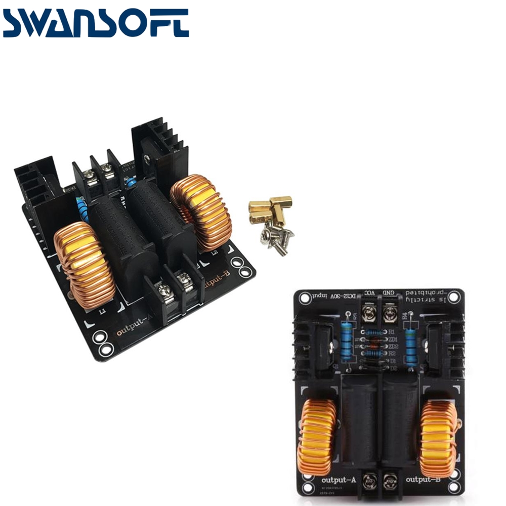 SWANSOFT <font><b>DC</b></font> <font><b>12</b></font>-<font><b>30V</b></font> ZVS Drive Plate Board High Voltage Generator No Taps Driver Board For Tesla Coil High Voltage <font><b>DC</b></font> Generator image