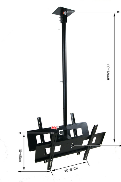 30 65 Inch Dual Screen Led Lcd Tv Ceiling Mount Free