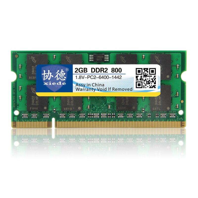 XieDe памяці Ram DDR2 2GB для ноўтбука Notebook SODIMM Memoria Сумяшчальнасць з DDR 2 800 МГц 667Mhz 533Mhz 800Mhz PC2-6400 1GB