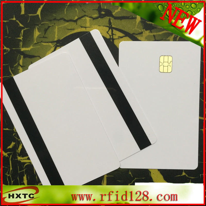 20pcs/lot ISO7816 2 in 1 SLE4442& Hi-Co Track 1 Track 2 8.4mm Small Hi-co Magnetic Stripe Smart PVC Card Free shipping 200pcs track 1 2 and 3 magnetic stripe blank card for school library management access control