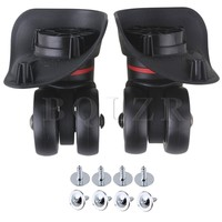 2pcs Black Left Right Luggage Swivel Universal Wheel 10x9 8x4 9cm BQLZR