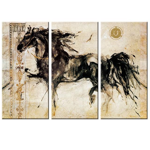 toile peinture cheval peinture sans cadre moderne animaux. Black Bedroom Furniture Sets. Home Design Ideas