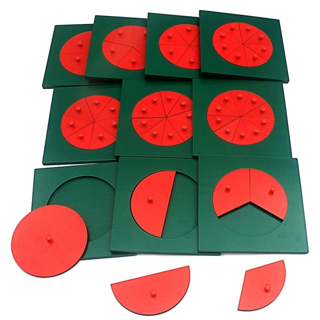 Baby-Montessori-Math-Toys-Wooden-Fraction-Circles-1-10-Counting-Fractions-Educational-Wood-Toys-Circular-Division