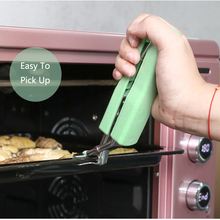 Stainless Steel Silicone Kitchen Tongs BBQ Clip Salad Bread Cooking Food Serving Tongs Kitchen Tools Cooking Heat-Resistant Ton