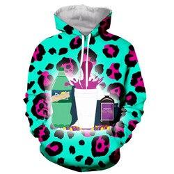 Chegam novas Sprite/verde rosa leopardo série 3D impressão das mulheres dos homens camisa da forma t/hoodies/moletons/ colete/tops dropshipping