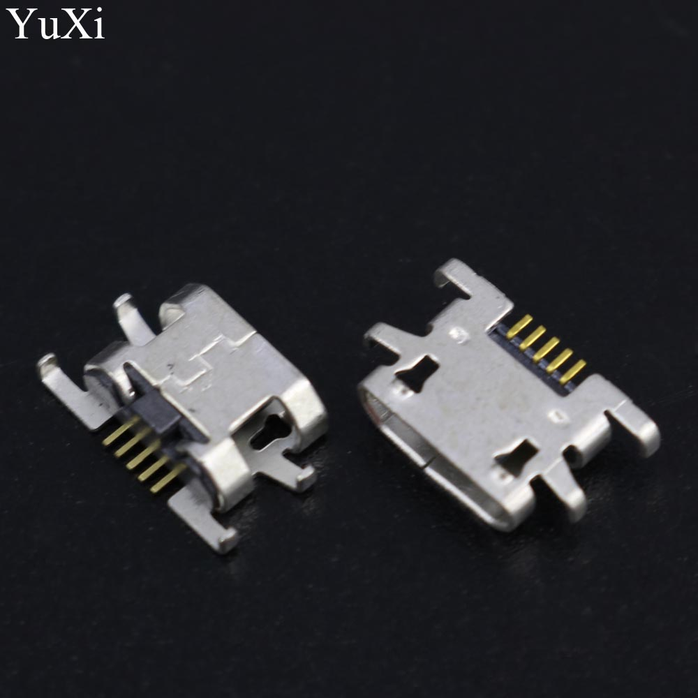 10pcs lot new micro mini USB female Charging Port jack socket Connector replacement repair parts for doogee x5 pro mobile 5pin in Connectors from Lights Lighting