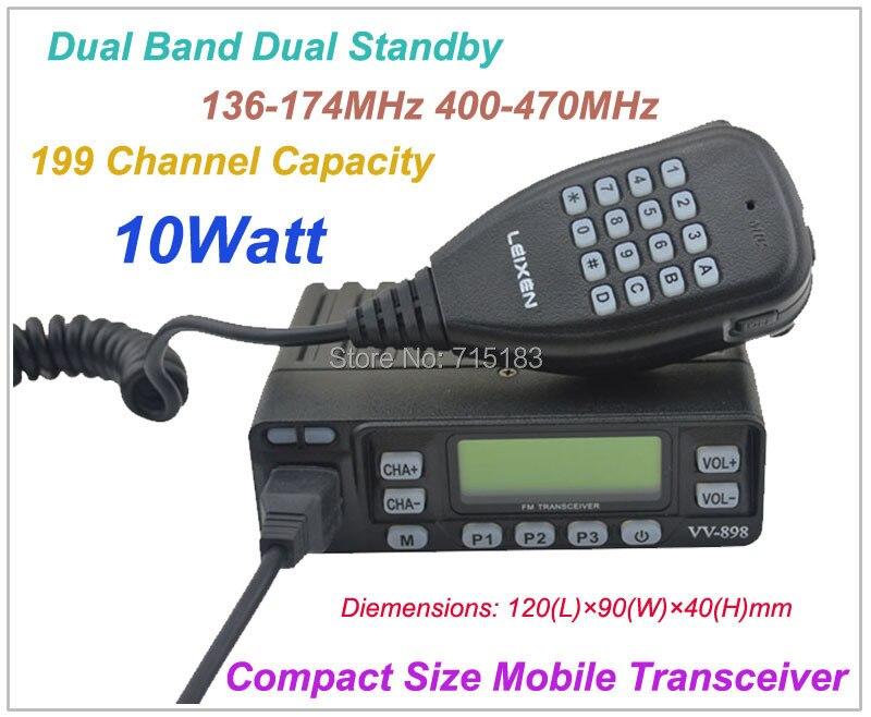 VV-898 Kompakt Boyutu Dual Band 10 Watt Araba radyo Mobil Radyo Verici 136-174 MHz & 400-470 MHzVV-898 Kompakt Boyutu Dual Band 10 Watt Araba radyo Mobil Radyo Verici 136-174 MHz & 400-470 MHz