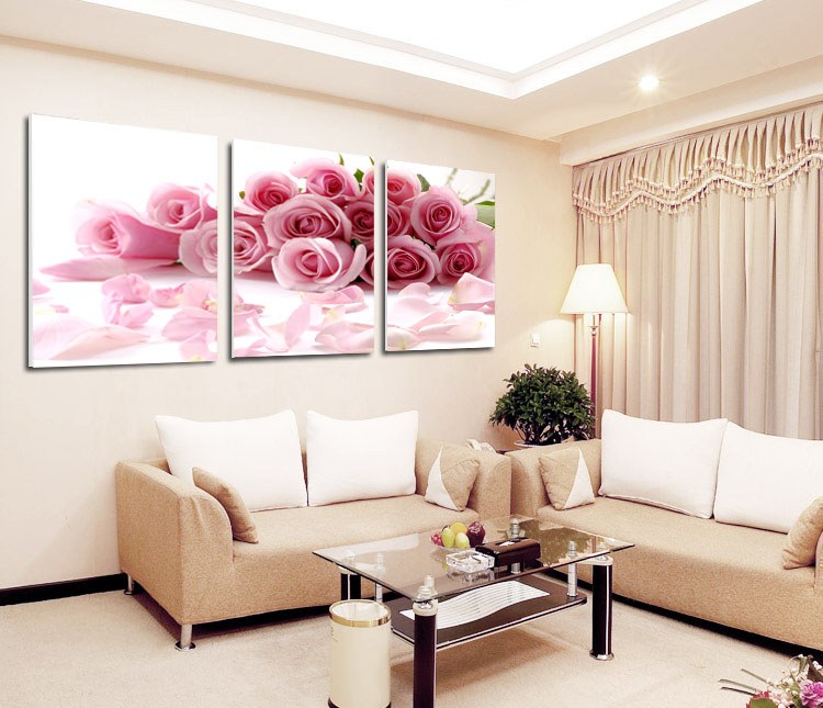 Free Shipping Home Decorators: 2015 New Hot Pink Rose Canvas Painting Free Shipping