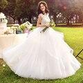Sexy новая свадебные платья vintage тюль 2017 кружева ткань мяч платье с ремнями юбка кружева топ корсет турции Свадебные Платья BB55