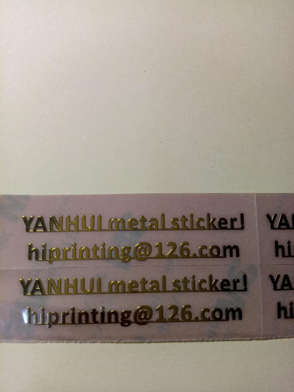 6x6 20pcs 1x1 200pcs nickel metal sticker